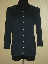 RALPH LAUREN SPORT WOMEN'S 3/4 SLEEVED CABLE KNITTED CARDIGAN SWEATER SIZE M