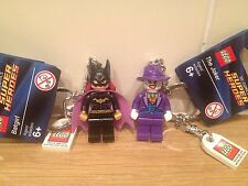 LEGO SUPER HEROES JOKER/BATGIRL KEY RING.{851003/851005] NEW WITH TAGS
