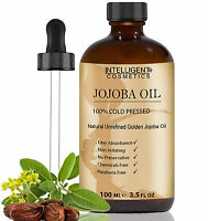 Jojoba Oil Golden 100% Cold Pressed Pure Certified Organic & Natural 100ml NEW