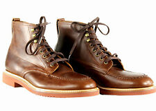 J Crew Mens Kenton Pacer Boots 8 Style# B2768 $218 Brown Shoes Leather Def