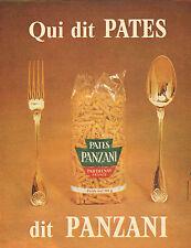 Publicité 1965  PATES PANZANI ...