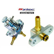 SYTEC SAR FUEL PRESSURE REGULATOR SILVER + FUEL RAIL ADAPTOR - MAZDA 323F / GTR