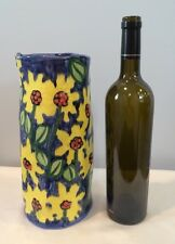 Nordstrom Hand Painted Wine Cooler Vase With Gorgeous Multi Color Floral Signed