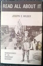 Read All About It Story Of Jewish Immigrant Newsboy Joseph Wilder Signed 1978