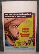 THE WONDERFUL COUNTRY original 1959 movie poster ROBERT MITCHUM/JULIE LONDON