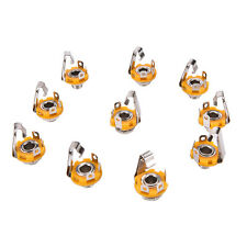 "10X Mono 1/4"" 6.35mm ID Socket Jack Connector Panel Mount Guitar Plate HK"
