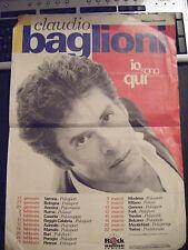 locandina tour Claudio Baglioni io sono qui anni '90 originale rara !