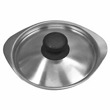 Sori Yanagi Stainless Steel Matte-Finished Lid for Milk Pan 16cm Made in Japan