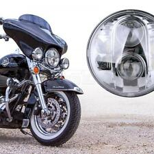 "Universal 7"" Round Chrome 80W CREE LED Harley Motorcycle HID Projector Headlight"