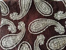 PAISLEY 3PC Full Queen QUILT SHAM SET 100% COTTON Green Brown Paisley