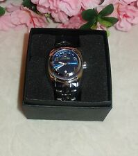 Chronotech Men's  BlUE Dial Luminous Stainless Steel Date Watch new