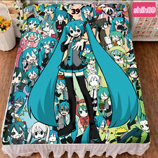 Anime Hatsune Miku VOCALOID Warm Bed sheet Plush Throw Blanket Bedding Gift #K-Q