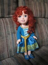 "Disney Collection Brave Merida Toddler 14"" Doll with Dress Shoes"