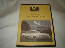 CHRYSLER 1973 - 1976 Classic car DVD video MOPAR Cuda