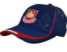 WEST HAM UNITED FC EMBROIDERED CREST ADULT MENS BASEBALL CAP ADJUSTABLE STRAP