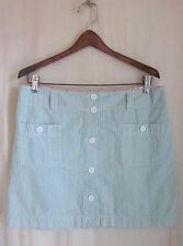 VINEYARD VINES Green White Pink WHALE Preppy Button Front Golf Skirt Size 6