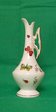 PORCELAIN BUD VASE IN THE SHAPE OF A PITCHER WITH BUTTERFLIES AND BUGS