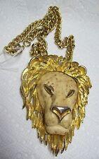 Vintage RAZZA Chunky LION Necklace