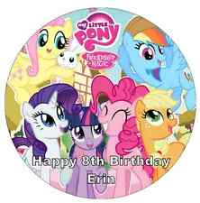 My Little Pony Personalised Cake Topper Edible Wafer Paper 7.5""