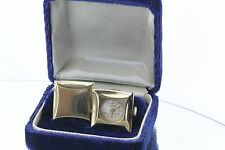 Vintage Lucerne Swiss Gold Plated 17 Jewel Cufflink Watch