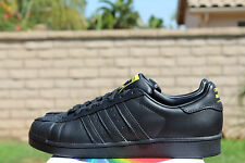 ADIDAS SUPERSTAR PHARRELL SUPERSHELL SZ 10.5 ENERGY CORE BLACK YELLOW S83345