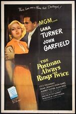 THE POSTMAN ALWAYS RINGS TWICE LANA TURNER FILM NOIR UNRESTORED 1946 1-SHEET