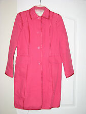 Banana Republic Pink Trench Coat Women's MEDIUM M Spring Jacket Ladies cotton