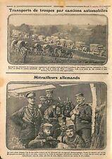 Camions Automobiles Transport de Troupes Bataille de l'Yser /Feldgrauen WWI 1915