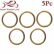 5PC X 14MM BRASS WELDED RINGS O-RING - LEATHER CRAFT STRAP BELT LANYARD BUCKLE