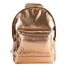 Mi-Pac Rucksack Backpack Bag Mini Metallic Cute Rose Gold Rosegold Rosa Pink