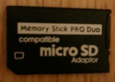 NEW 8GB MICRO SD PRO DUO MEMORY STICK CARD FOR SONY PSP / CAMERA / ETC.