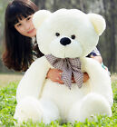 LOVELY GIANT BIG CUTE BEIGE PLUSH TEDDY BEAR HUGE SOFT 100% COTTON TOY 29.5""