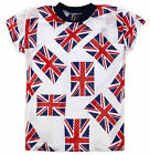 Boys Union Jack Short Sleeved Sports T-Shirt New Kids England Top Ages 2-6 Years