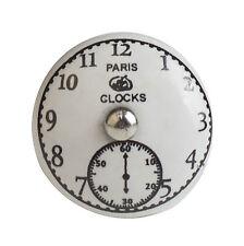 Möbelknopf Porzellan Möbelknauf Schublade Keramik Vintage Uhr Antik Shabby weiß