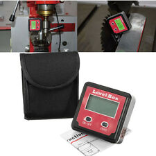 Digital Inclinometer Spirit Level Protractor Angle Gauge Meter Bevel RED
