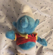 "Peyo 1982 Soccer Smurf Smurferoos 14"" Plush Soft Toy Stuffed Animal"