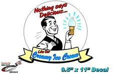 RETRO Ice Cream 9.5''x11'' Decal for Ice Cream Parlor or Truck Sign or Banner
