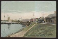 Postcard KITTERY JCT Maine/ME  Railroad Depot/Station w/Train view 1907
