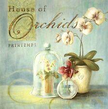 Angela Staehling: House of Orchids Küche Fertig-Bild 40x40 Orchideen Wandbild