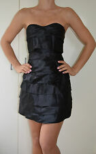 Bardot Strapless Black Dress -Little Black Dress - Size 10