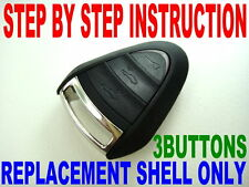 NEW SHELL FOR PORSCHE KEY FOB CASE DIY INSTRUCTION CHIP KEYLESS ENTRY REMOTE 3BT