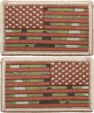 Multi Cam USA Flag Military American Flag Patch SET - 2 PATCHES!