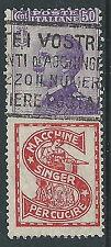 1924-25 REGNO USATO PUBBLICITARIO 50 CENT SINGER - P50-5