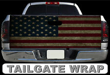T192 DISTRESSED AMERICAN FLAG Tailgate Wrap Decal Sticker Vinyl Graphic Bed