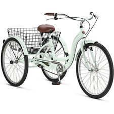 "Adult Tricycle 26 "" Trike Cruise 1 Speed Mint Green 3 Wheeled Bike With Basket"