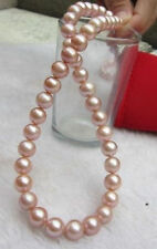 "Natural color 9-10mm AAA south sea Cultured Pearl Necklace 18"" HOO"