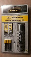 New Defiant LED Tactical Flashlight - Batteries Included  -  Glove box purse