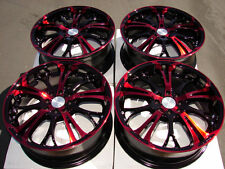 17 4x114.3 4x100 Red Effect Wheels Fits Accord Civic CL Yaris Integra 4 Lug Rims