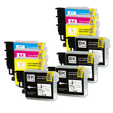10 New Ink Cartridges use for Brother LC61 BCMY MFC J415W J615W J630W
