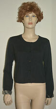 NWT BURBERRY WOMENS 100% WOOL CHECK CARDIGAN SWEATER SZ LARGE